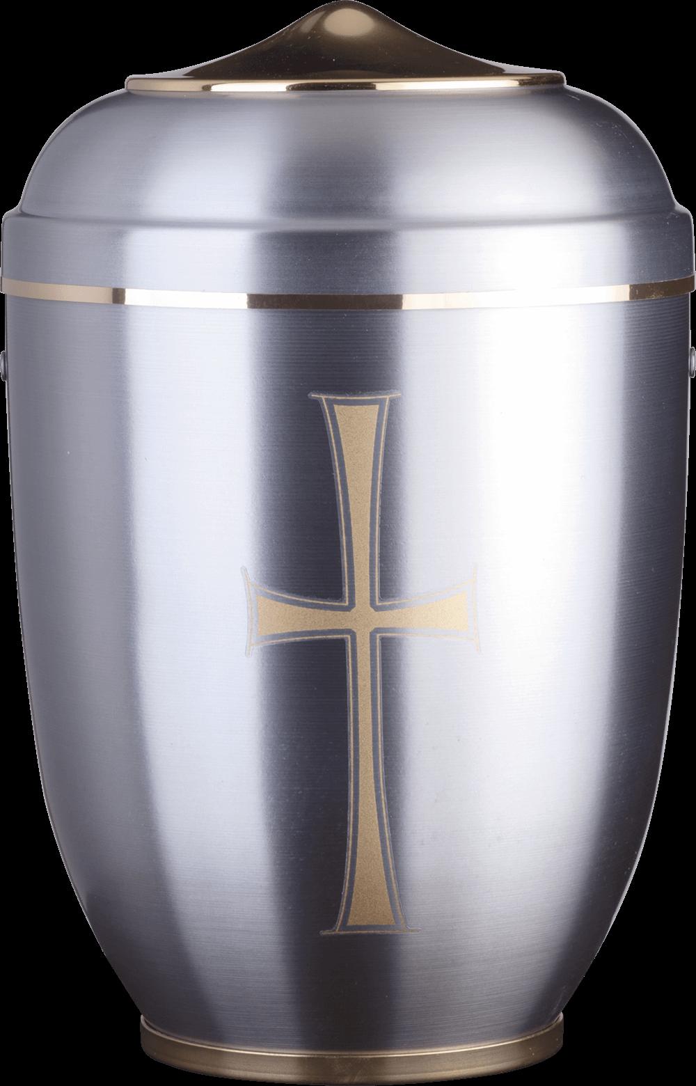 1710 K Stahl | Goldkreuz | Haube Messing