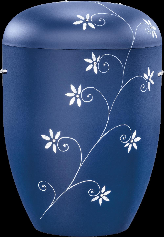 IKT 1557 Blau   Blumenranke