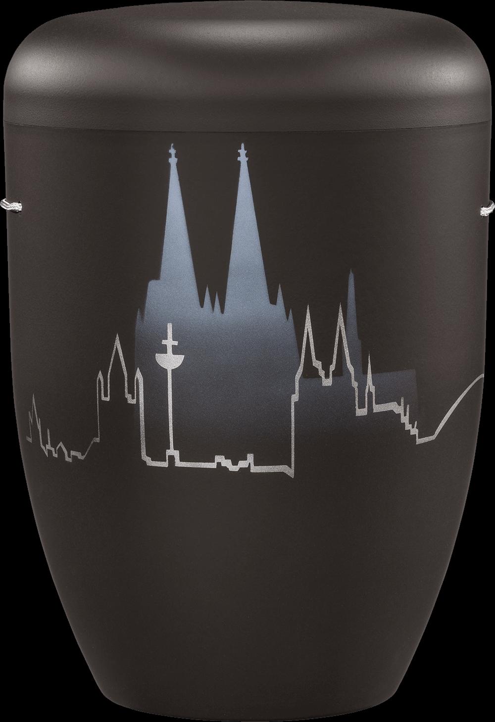 IKT Köln 41 Schwarz / Köln-Skyline mit Dom