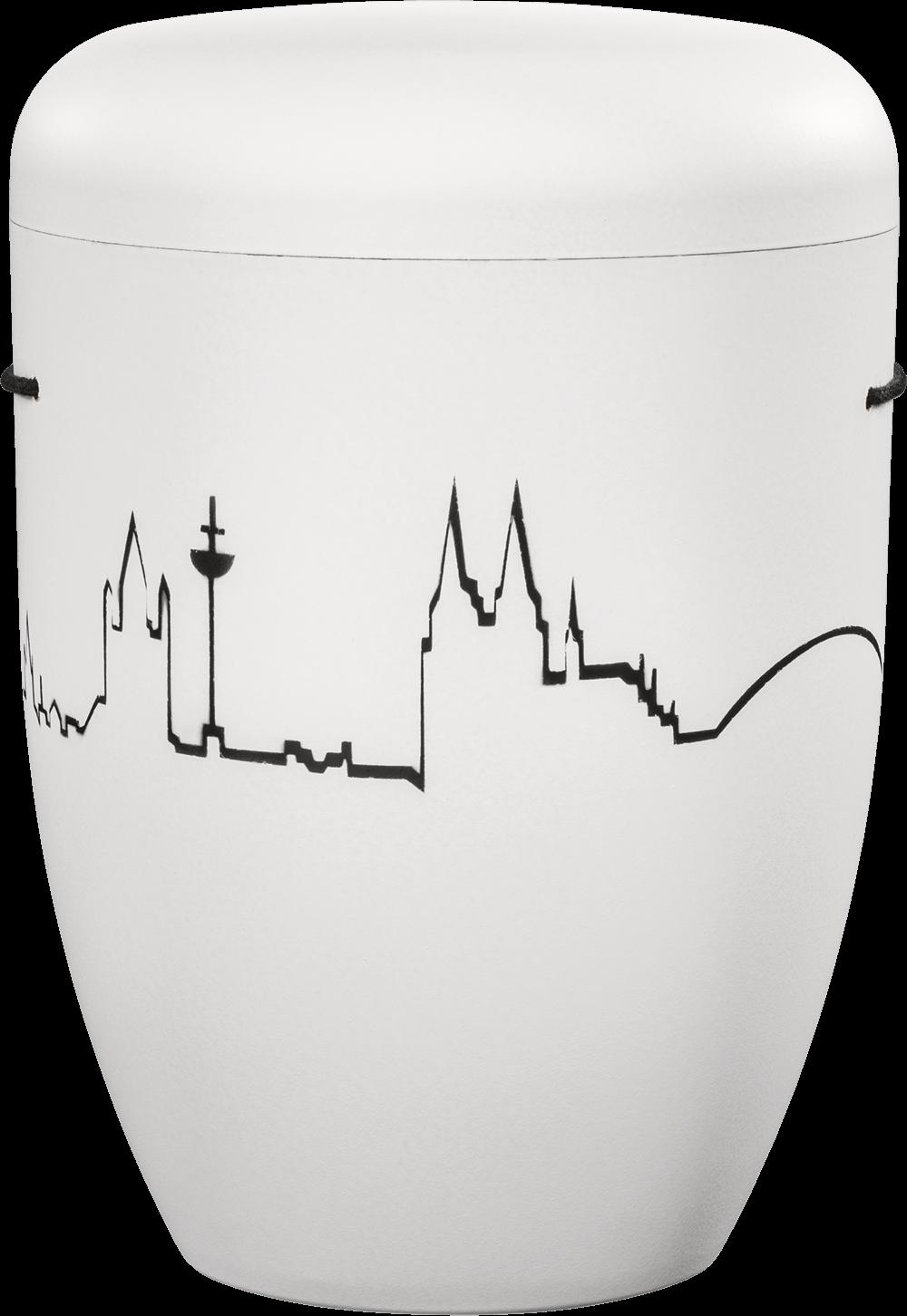 Köln 6 Weiß | Köln-Skyline