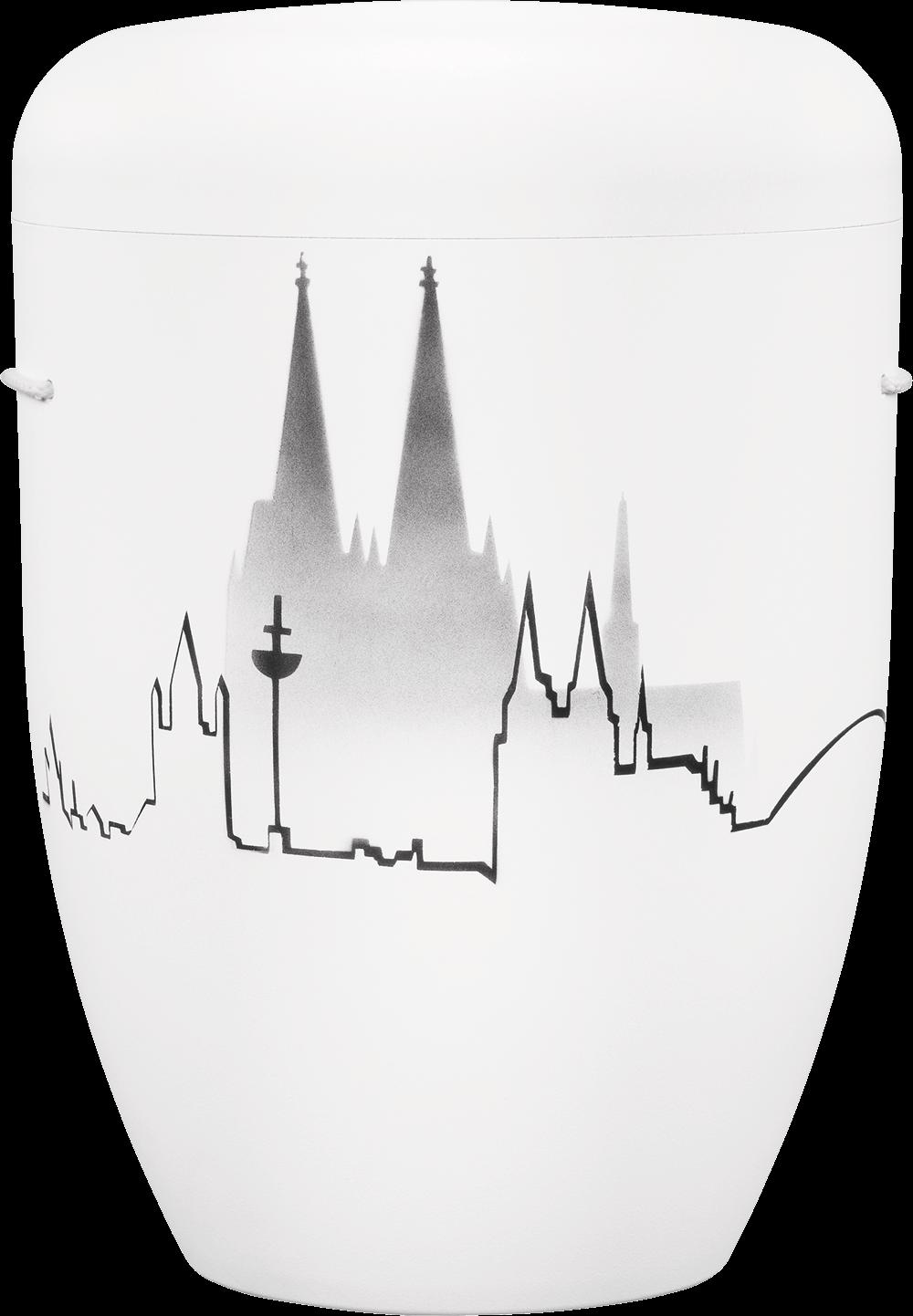 IKT Köln 61 Weiß / Köln-Skyline mit Dom